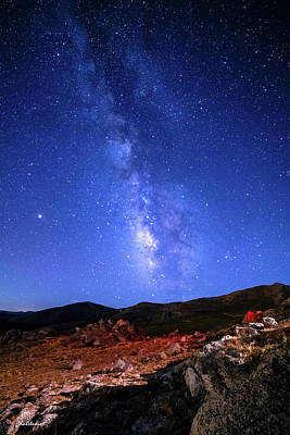 Photograph - The Milky Way Over Mt. Evans by Tim Kathka