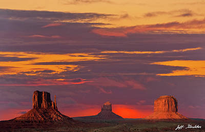 Photograph - The Mittens And Merrick Butte At Sunset by Jeff Goulden