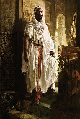 Photograph - The Moorish Chief - 1878 by Eduard Charlemont