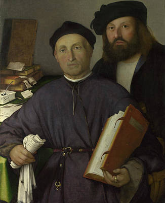 Painting - The Physician Giovanni Agostino Della Torre And His Son, Niccolo by Lorenzo Lotto