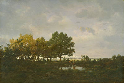 Painting - The Pond by Theodore Rousseau