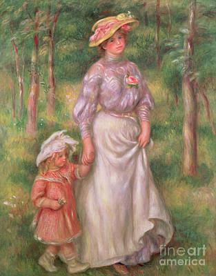 Painting - The Promenade by Pierre Auguste Renoir