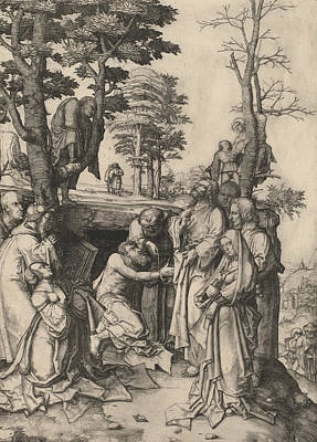 Relief - The Raising Of Lazarus by Lucas van Leyden