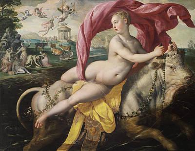Painting - The Rape Of Europa by Maerten de Vos