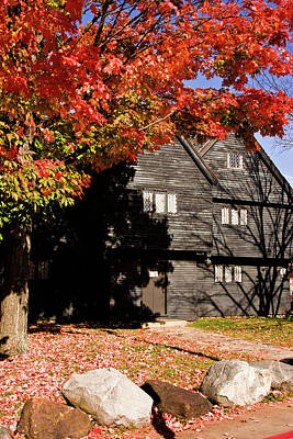 Photograph - The Salem Massachusetts  Witch House by Jeff Folger