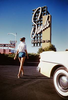 Photograph - The Sands Hotel by Hy Peskin Archive