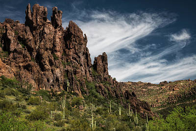 Photograph - The Sentinels Of The Superstitions  by Saija Lehtonen