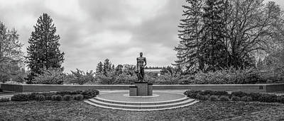 Photograph - The Spartan Statue Black And White  by John McGraw