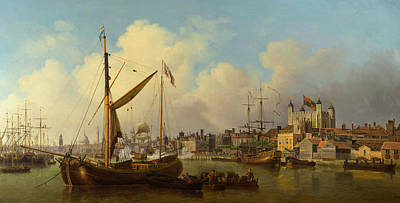 Painting - The Thames And The Tower Of London Supposedly On The King's Birthday by Samuel Scott