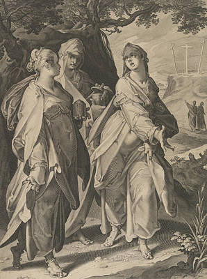 Relief - The Three Women Returning From The Tomb by Aegidius Sadeler