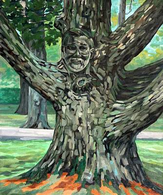 Painting - The Tree by Phil Chadwick