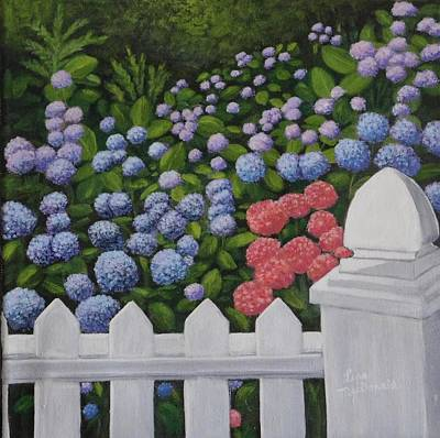 Wall Art - Painting - The White Picket Fence by Lisa MacDonald
