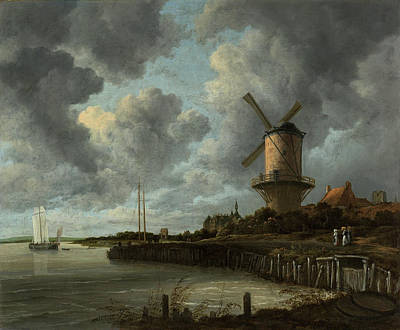Painting - The Windmill At Wijk Bij Duurstede  by Jacob van Ruisdael