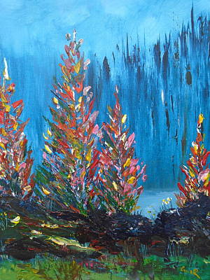Painting - The Woodlands Of Lough Hyne by Conor Murphy