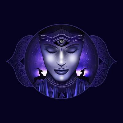 Digital Art - Third Eye Chakra by Serena King