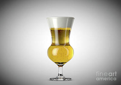 Beer Royalty-Free and Rights-Managed Images - Thistle Beer Pint by Allan Swart