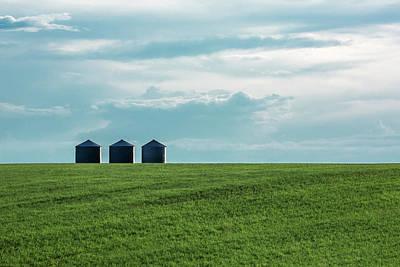 Photograph - Three Grain Bins by Todd Klassy