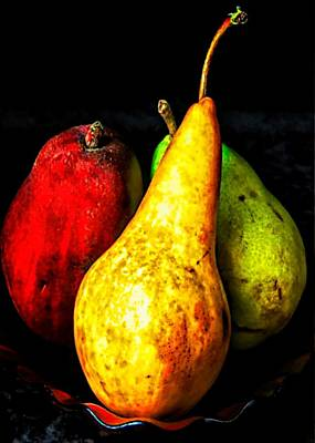 Fantasy Royalty-Free and Rights-Managed Images - Three Pears by Elf EVANS