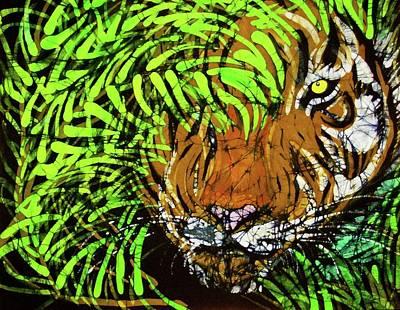 Tiger In Bamboo Art Print