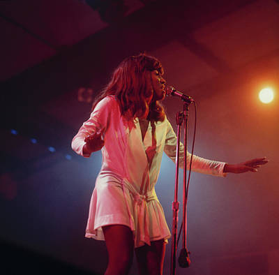 Photograph - Tina Turner Perfoms On Stage by David Redfern