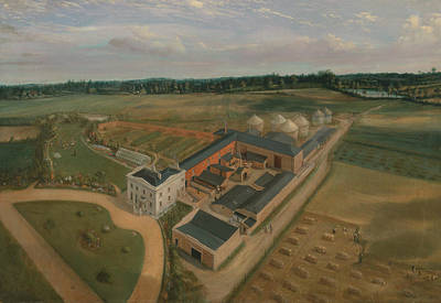 Painting - Tiptree Hall And Farm, Essex by William Brown