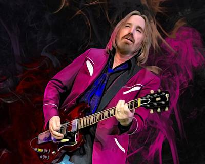 Music Royalty-Free and Rights-Managed Images - Tom Petty Portrait  by Scott Wallace Digital Designs