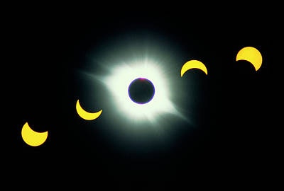 Photograph - Total Solar Eclipse, 1991 by George Post