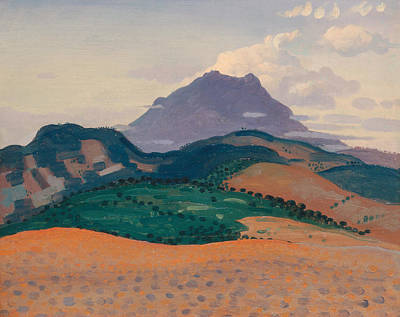 Painting - Tour Madeloc In The Pyrenees by Derwent Lees