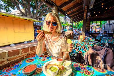 Photograph - Tourist Woman At El Pueblo by Benny Marty