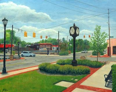 Painting - Town Center by Jean Ehler