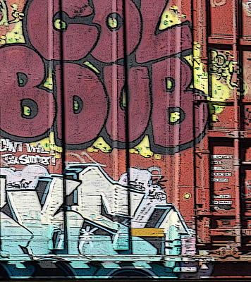 Photograph - Train Graffiti 1 by Sarajane Helm