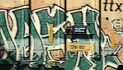 Photograph - Train Graffiti 2 by Sarajane Helm