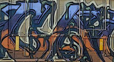 Digital Art - Train Graffiti 6 by Sarajane Helm