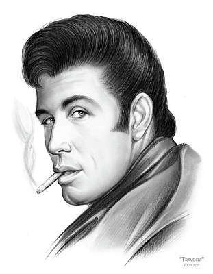 Drawing - Travolta by Greg Joens
