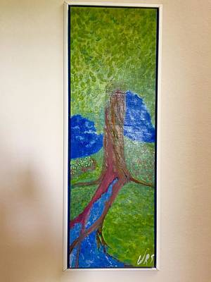 Painting - Tree Fountain by Walter Rivera Santos