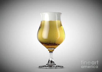 Beer Royalty-Free and Rights-Managed Images - Tulip Beer Pint by Allan Swart