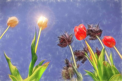 Mixed Media - Tulips, Tulips, Tulips by Susan Leonard