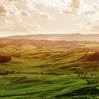 Photograph - Tuscan Hills by Deimagine