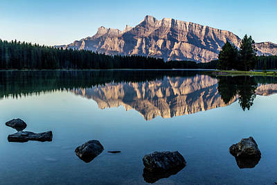 Photograph - Two Jack Lake, Banff National Park, Alberta, Canada by David Butler
