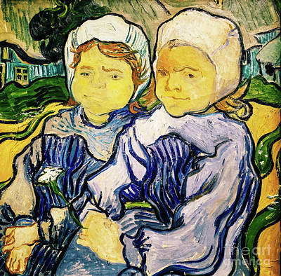 Painting - Two Little Girls by Vincent Van Gogh