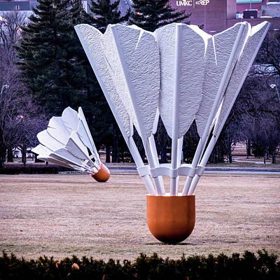 Photograph - Two Shuttlecocks - Kansas City Landmark Sculptures by Gregory Ballos