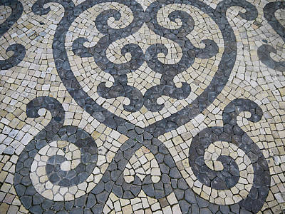 Photograph - Typical Portuguese mosaic pavement  by Tosca Weijers