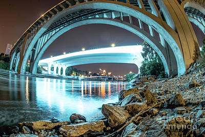 Photograph - Under The Bridges In Mpls by Habashy Photography