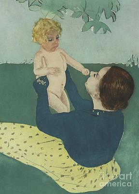 Painting - Under The Horse Chestnut Tree by Mary Stevenson Cassatt
