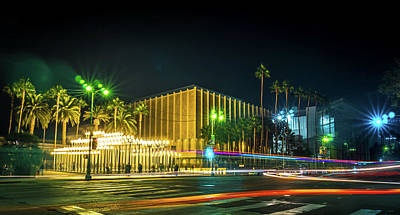 Photograph - Urban Light Los Angeles Long Exposure At Night by Alex Grichenko