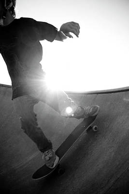 Photograph - Usa, Wisconsin, Skateboarder In Skate by Win-initiative