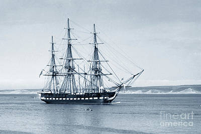 Photograph - Uss Constitution Old Ironsides In Monterey Bay Oct. 1933 by California Views Archives Mr Pat Hathaway Archives