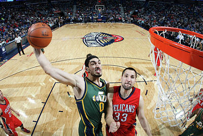 Photograph - Utah Jazz V New Orleans Pelicans by Layne Murdoch