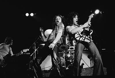 Photograph - Van Halen In Lewisham by Fin Costello