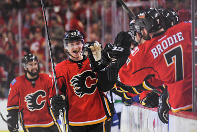 Photograph - Vancouver Canucks V Calgary Flames - by Derek Leung